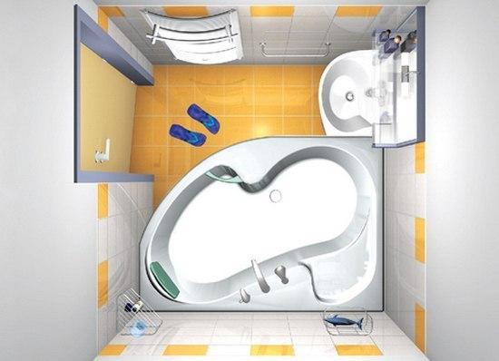 Интерьеры если маленькая ванная комната