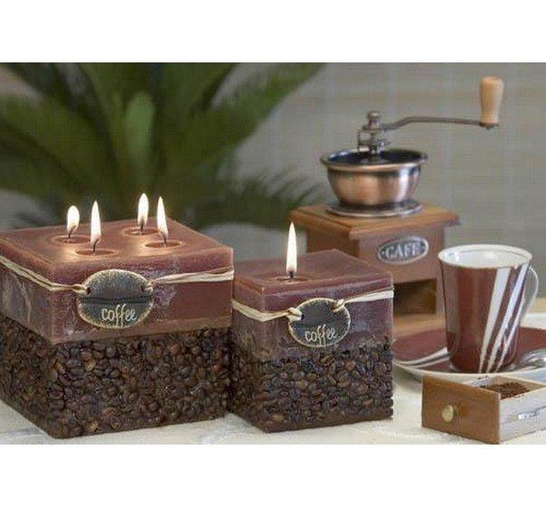 Свеча с кофейными зернами своими руками